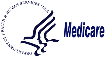 Logo Recognizing Cornerstone Foot & Ankle's affiliation with Medicare